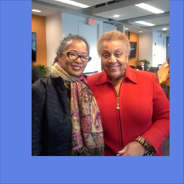 Me and Dartmouth Professor and Author Ella Bell Smith at the Center for American Progress Action Fund