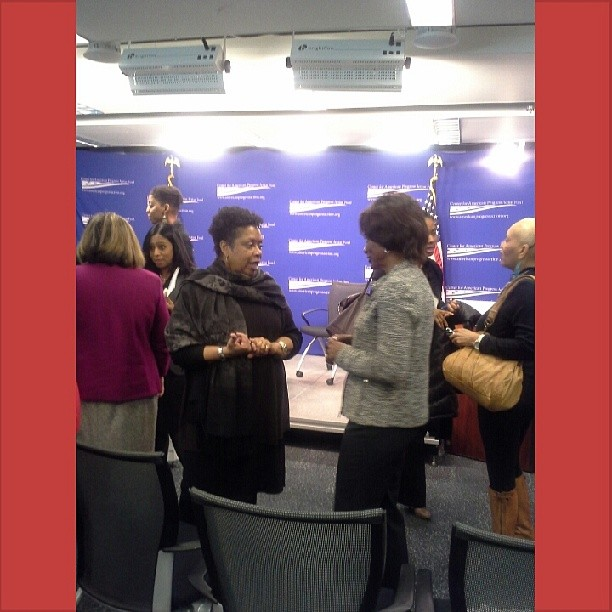 My Fierce Living mentor and friend Toni Dunton-Butler, Founder of A Silver Thread, Inc. (in all black outfit) at Center for American Progress Action Fund