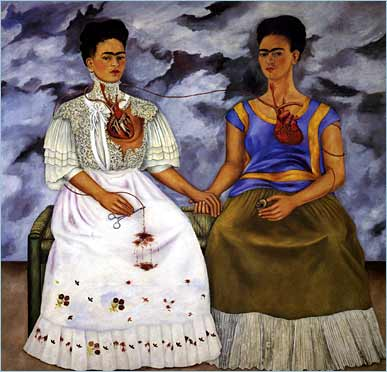 Frida Kahlo's painting, The Two Fridas (1939)