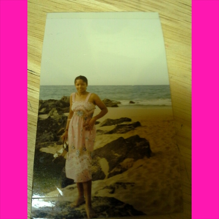 Ananda on the beach in San Juan in 1982