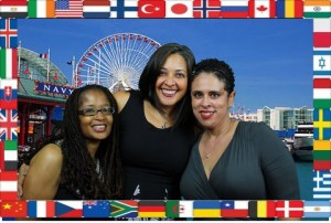 Me, Dwana, and Pauline at BlogHer Multi Culti Party in 2013