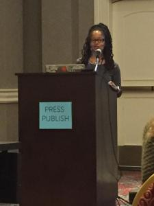 Speaking at Press Publish - Photo Credit: Christine Holsey