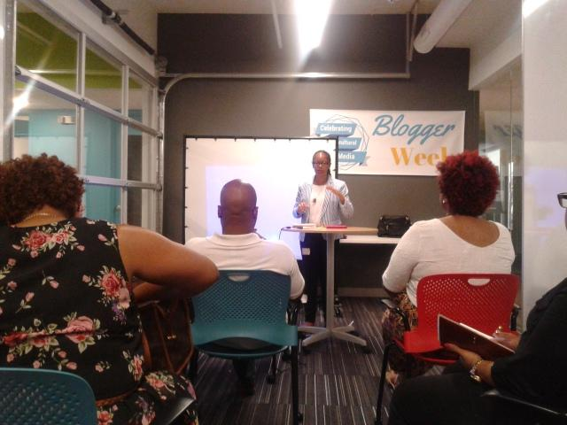 My 5/2 session on Embracing Your Digital Citizenship at Blogger Week Unconference, Photo Credit: Teresa Dowell-Vest