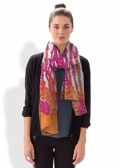 Digital Sisterhood scarf -- Photo Credit: ShopVida.com