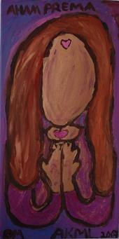 Karma: Aham Prema painting by Ananda Leeke