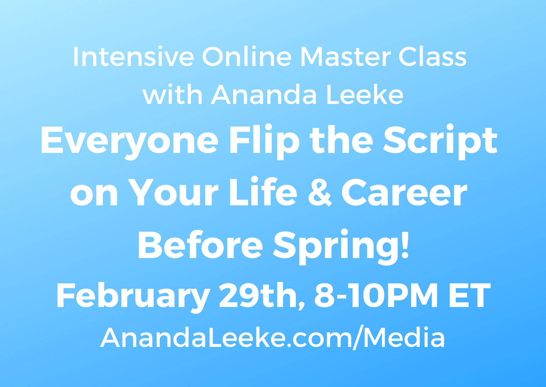 Intensive Online Master Class for Everyone (2)