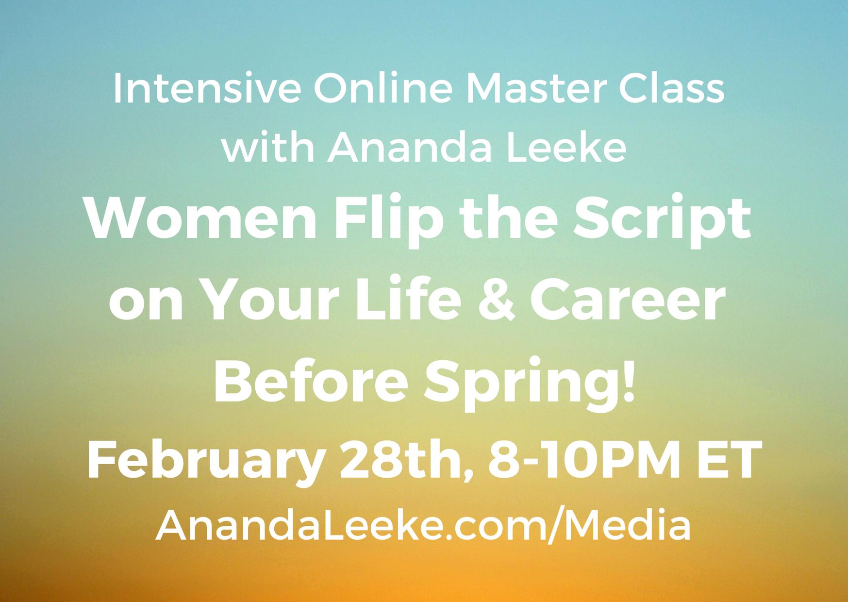 Intensive Online Master Class for Women